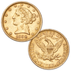 1898 Liberty Head $5 gold