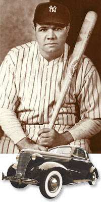 Babe Ruth and Car - Littleton Coin Blog