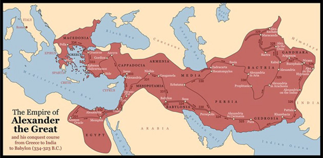 Alexander the Great Area Map - Littleton Coin Blog