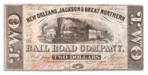 New Orleans, Jackson & Great Northern Railroad Note - Littleton Coin Blog