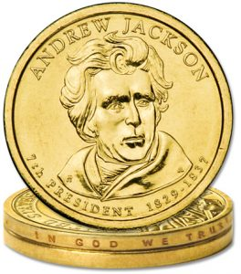 Jackson Presidential Dollar, no edge lettering error - Littleton Coin Blog