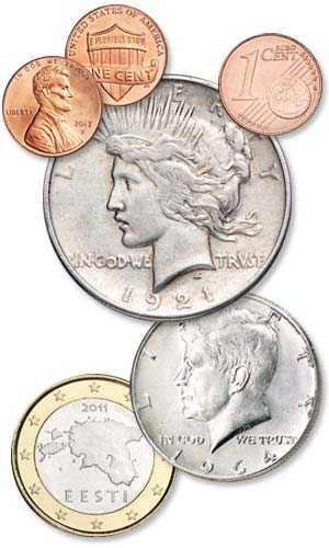 Lincoln Cent, Peace Dollar, Euro Coins and Kennedy Half Dollar - Littleton Coin Blog