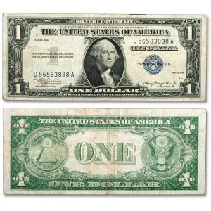 Genuine 1935 $1 Silver Certificate