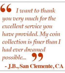 Testimonial by J.B. from San Clemente, CA - Littleton Coin Blog