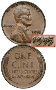 1955 Double Die Lincoln Cent - Littleton Coin Blog