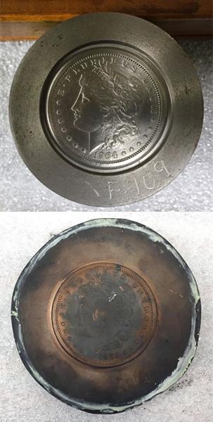 1964 Morgan dollar hub and galvano - Littleton Coin Blog