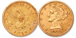 Classic Head $5 Gold Half Eagle - Littleton Coin Blog