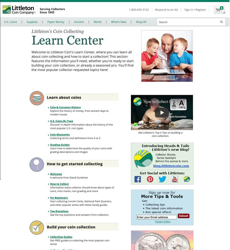 Littleton's Learn Center - Littleton Coin Blog