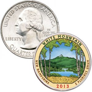 2013 White Mountains National Park Quarter Colorized - Littleton Coin Blog