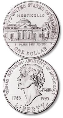 1993 (1994-P) Thomas Jefferson Silver Dollar - Littleton Coin Blog