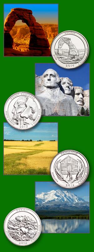 National Parks with corresponding quarter - Littleton Coin Blog