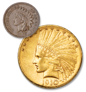 Indian Head Cent and U.S. Gold $10 - Littleton Coin Blog