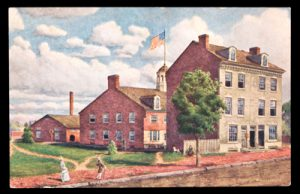 Postcard of the 1st Philadelphia Mint