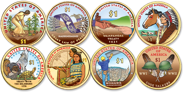 Colorized Native American Dollars - Littleton Coin Blog