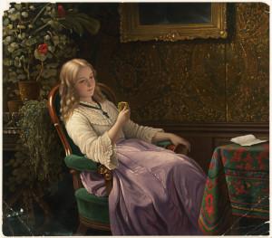 """The Love Token"" by Johann Georg Meyer"