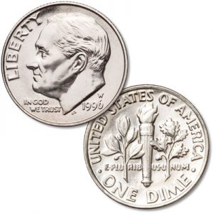 1996-W Roosevelt Dime - Littleton Coin Blog