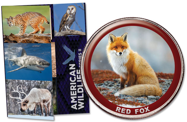 American Wildlife Series II Folder and Red Fox Coin - Littleton Coin Blog