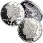 <em>Celebrating a Silver Centennial – it's the</em><br/>100th Anniversary of the Last Morgan & First Peace Dollar!
