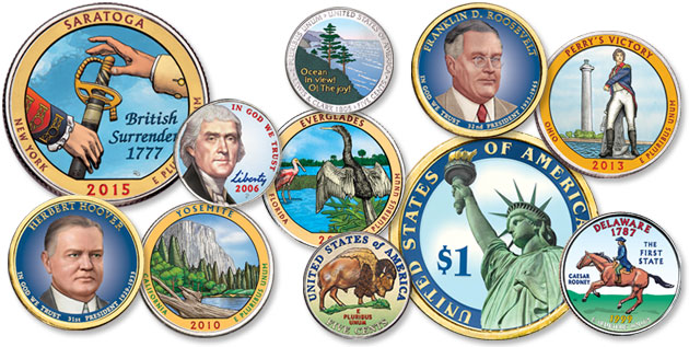 Colorized Coins - Littleton Coin Blog