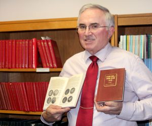 David Sundman with his collection of Red Books - Littleton Coin Blog