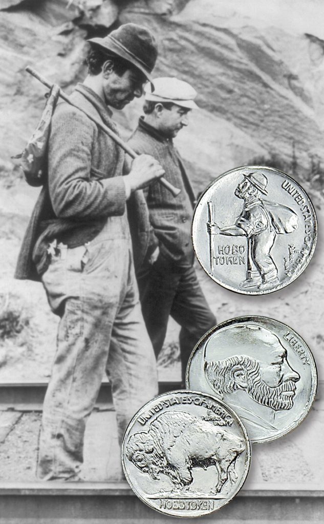 Hobos walking the railraod and a couple coins. - Littleton Coin Blog