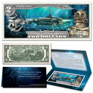 20,000 Leagues Under the Sea Colorized $2 Note - Littleton Coin Blog