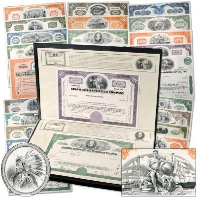 """Hot"" stock and bond certificates collectibles recall legendary companies that built our country! - Littleton Coin Blog"