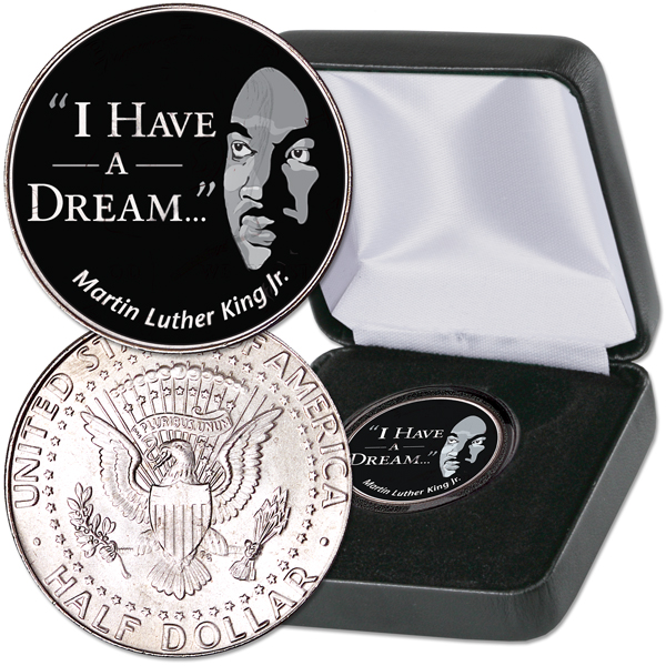 2018 Colorized 'I Have a Dream' Kennedy Half Dollar with Case – Littleton Coin Company Blog
