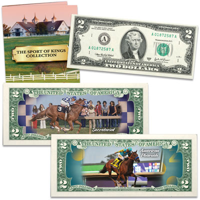 The Sport of Kings Colorized $2 Notes Collection – Littleton Coin Company Blog
